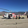 Cal Fire Bell Huey flew in from Chino.