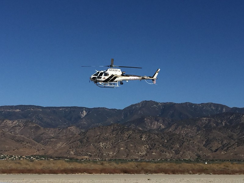Sheriff's helicopter arrives.