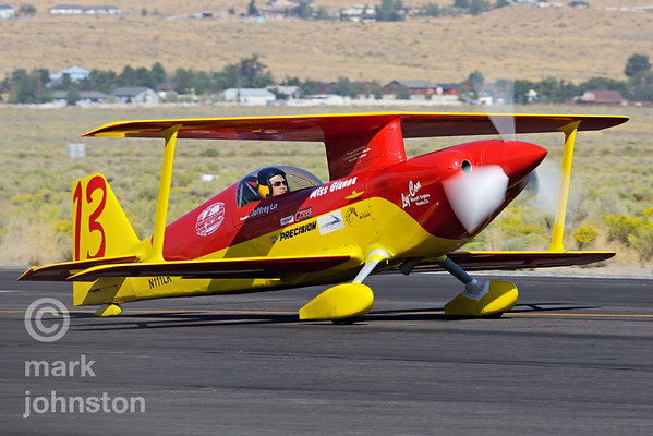 """One of the more radical entrants in the Biplane Class at Reno is Jeff Lo's """"Miss Gianna""""."""