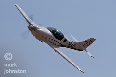 "Josh Brungardt and Race 23, ""Ludicrous"", a Lancair Legacy, during a qualifying run at the 2007 National Championship Air Races. Brungardt and ""Ludicrous"" qualified in 19th place at a speed of 276.951 mph, and went on to finish sixth in the Sport Silver race at a speed of 274.849 mph."