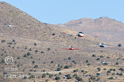 Sport Class aircraft on the west side of the race course during the Sport Gold race, a six-lap race of 50 miles total course distance.