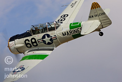 "Mike Gillian's AT-6D, ""Big Easy"", is part of an exciting class at Reno that features match racing between stock AT-6, SNJ [US Navy], and Harvard [Canadian] versions of the North American WWII-era trainer."