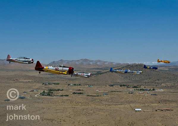 The National Championship Air Races and Air Show feature several classes of up to laps aircraft racing together for up to eight laps around a closed course demarcated by specially marked poles [pylons] at speeds exceeding 500 mph.  The Reno Air Racing Association sponsors the Pylon Racing Seminar as a unique and productive opportunity for race pilots to prepare, practice, and become certified to race in the National Championship Air Races.  The Pylon Racing Seminar is held at Nevada's Reno Stead Field during the month of June.  For more information, visit http://www.airrace.org/