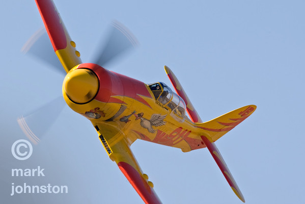 """Dan Vance campaigned Mike Brown's Hawker Sea Fury """"September Pops"""", Race 911, in 2007.  Vance and """"Pops"""" finished sixth in the Unlimited Class Silver race at a speed of 367.705 mph."""