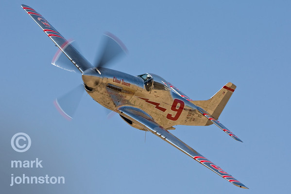 """Jimmy Leeward and Unlimited Class Race 9, """"Cloud Dancer"""", a North American P-51D Mustang."""