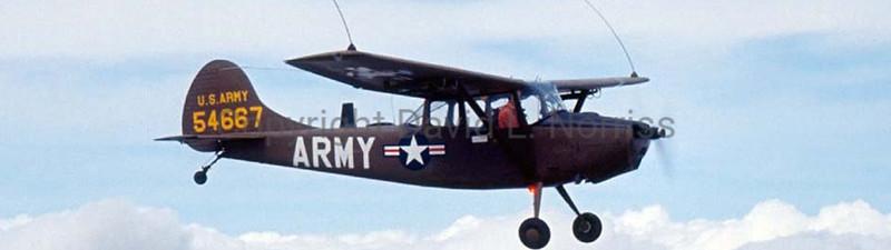 """Restored Cessna L-19 """"Bird Dog"""" observation plane"""