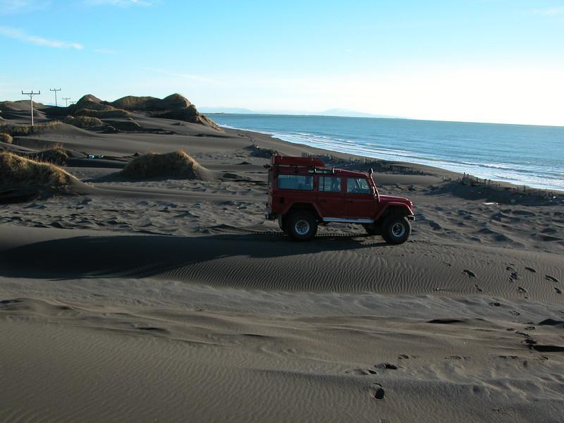 pulverised black sand beach and dunes on Iceland's south coast