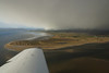 Snow showers appear rapidly as we approach Dornoch with the cloud base falling below five hundred feet as I turn base