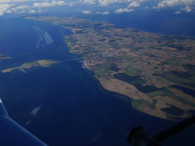 Denmark, a collection of low lying islands joined by elegant bridges. You have to hope that sea levels won't rise too high in these parts .