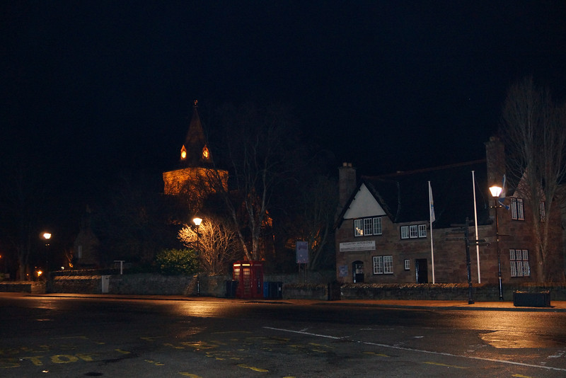 Isn't it worth  the flight? 2014 and a few days into the New Year. Dornoch at night, atmospheric and very cold as everyone else is indoors