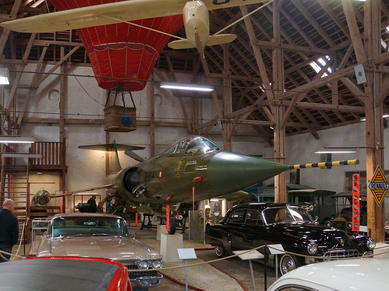 Egeskov Slot....and the last thing I expected to find there was a Starfighter in a barn among a collection of cars and bikes