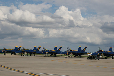 Blue Angels on the flight line