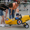 Youngest pilot at air show!! Note all female ground crew.