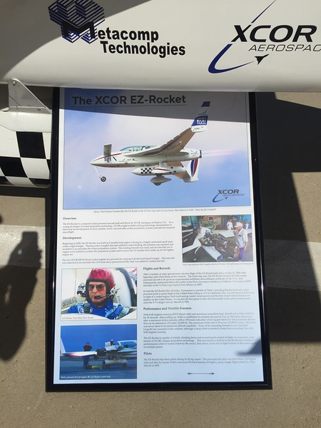 Information board for the EZ-Rocket. They were going to create a rocket race series at one time.