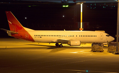 VH-TJE QANTAS B737-400 last night on Australian soil, before departing to the scrap yard