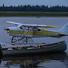 Sealane 182 C-GZFM floatplane at Two Bay docks in Moosonee.