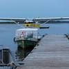 Sealane 182 C-GZFM floatplane at Two Bay docks in Moosonee. Door open?