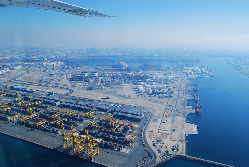 Jebel Ali port.