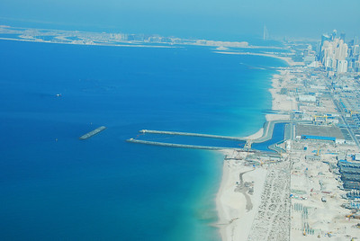 Jumeirah with the Palm in the distance.