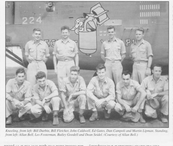 """The """"Bell crew"""" of the the B-24 """"SECRUT WEAPIN"""": 42-100224"""