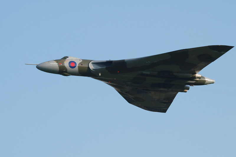 The AVRO Vulcan making its last display, ever, because it will be grounded after the next tour...