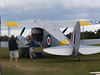 This DH Rapide was offering joy rides, very cheaply imo, and you got a large, wide, and then a smaller circuit for about 10 to 15 minutes over the adjacent towns and countryside.<br /> <br /> In other words there were three Rapides on show and flying that day.<br /> <br /> They weighed us all before the flight and then we were told where to sit and loaded from the back seats towards the cockpit. It seems if the plane is not carefully loaded and everyone goes to the front first it can tip up on to its nose!