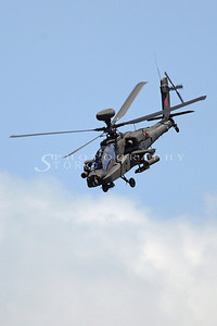 The Apache Helicopter from the Singapore Armed Forces performing at the Singapore Airshow