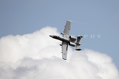 The A10 Thunderbolt performing at the Singapore Airshow