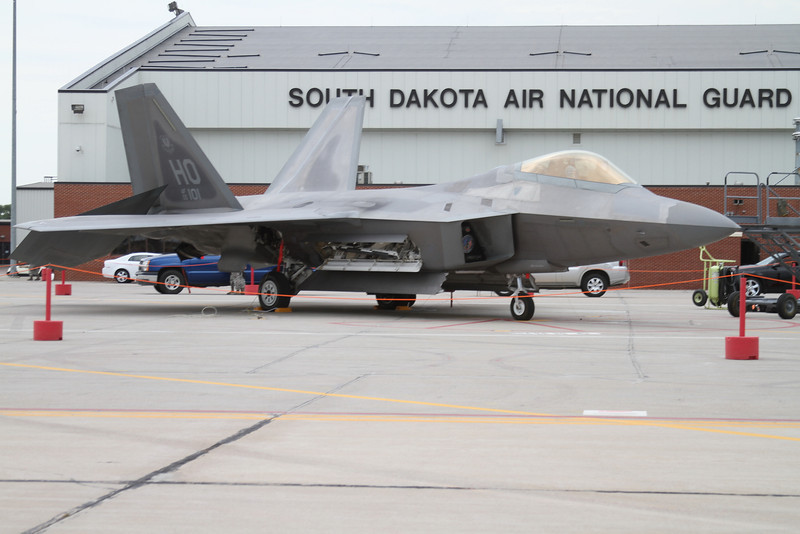 The Saturday demo F-22 Raptor