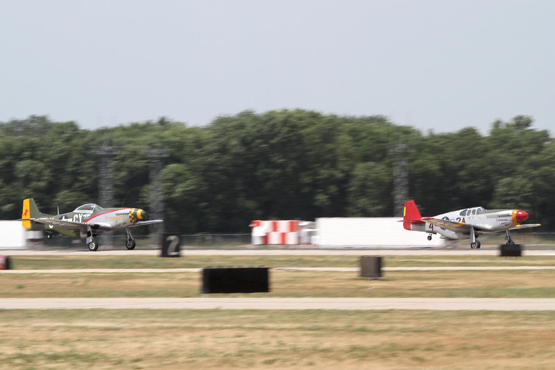 P-51's on the takeoff roll