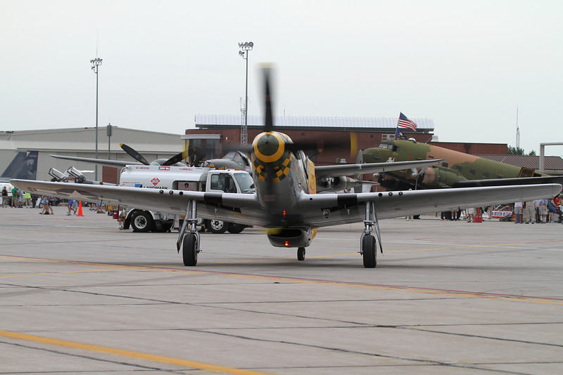 P-51 taking a lucky customer for a ride