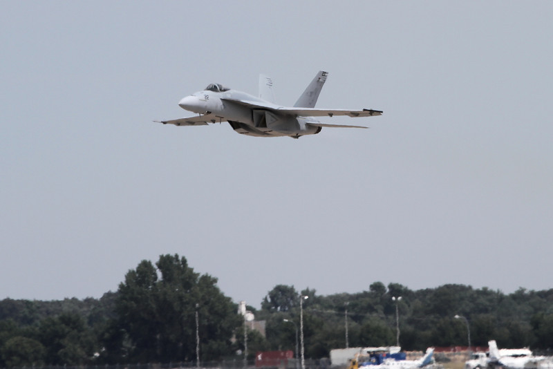 "Air Combat Command F-18 flying the ""demo"""