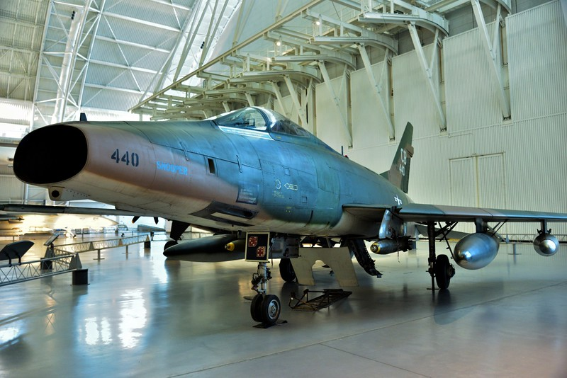 North American F-100D Super Sabre<br /> 56-3440 entered service in 1957 and retired to NASM in 1978<br /> <br /> Smithsonian Udvar- Hazy Center, Washington