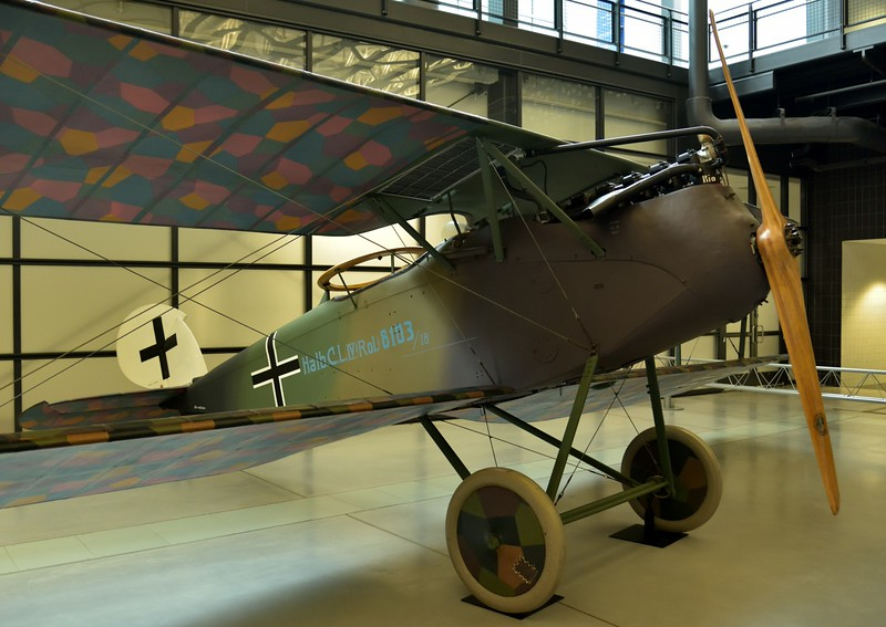 Halberstadt CL.IV<br /> German World War I ground attack aircraft<br /> <br /> Smithsonian Udvar- Hazy Center, Washington
