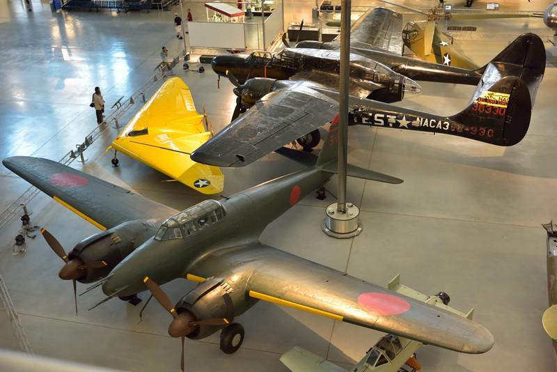 From top to bottom :-<br /> <br /> Northrop P-61C Black Widow<br /> <br /> Northrop N1M flying Wing<br /> <br /> Nakajima J1N1-S Gekko (Moonlight) IRVING<br /> daylight escort fighter <br /> <br /> Smithsonian Udvar- Hazy Center, Washington