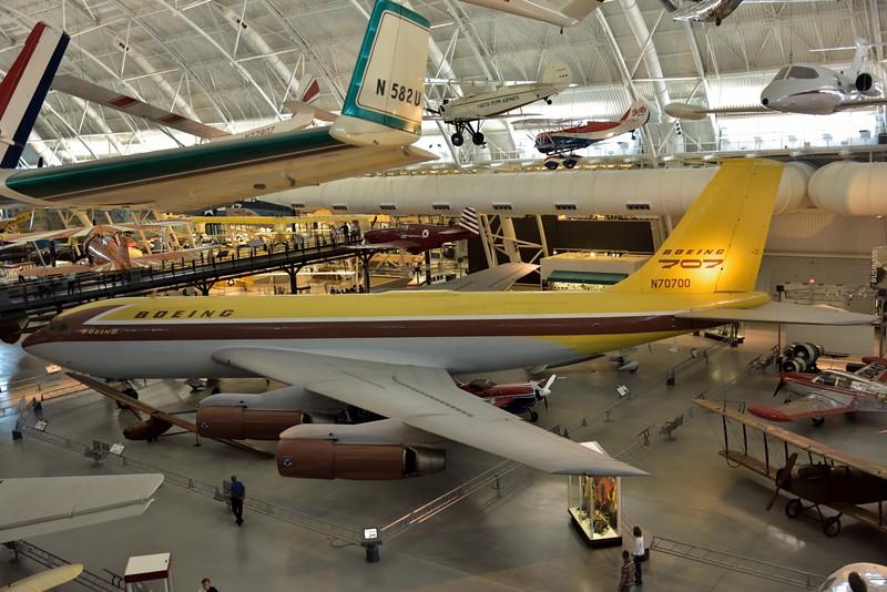 Boeing 367-80 Jet Transport<br /> its developed version entered service as the famous Boeing 707, America's first jet airliner.<br /> <br /> Smithsonian Udvar- Hazy Center, Washington