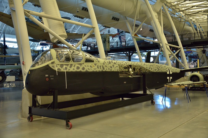 Heinkel He 219 A-2/R4 Uhu (Eagle Owl) night fighter<br /> undergoing restoration<br /> <br /> Smithsonian Udvar- Hazy Center, Washington