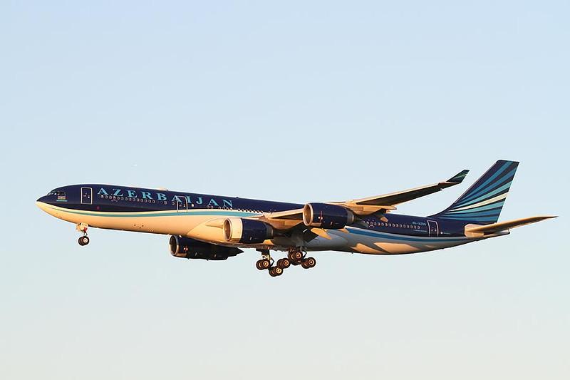 Azerbaijan A340 4K-AZ86 Heathrow 4th Nov 2013