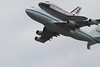 Washington DC Flyover of Space Shuttle Discovery on a 747 on 4/17/2012