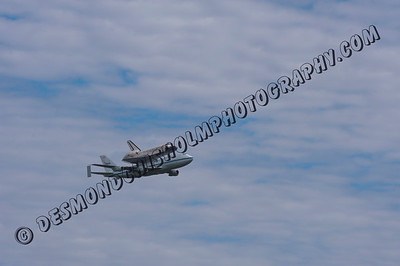 Space Shuttle Discovery Final Fly over DC Area