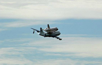 Space Shuttle Wash DC Flyover II 4-17-12