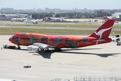 Qantas Boeing 747-400 VH-OEJ Wanala Dreaming