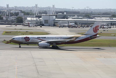Air China Airbus A330-243 B-6075 Flower Logo