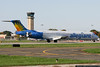 Allegiant MD-83 on a college football team charter.