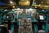 Cockpit of the Columbus Blue Jackets DC-9.