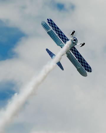 Stearman Model 75 - Dave Dacy - Prairie Air Show - Peoria, Illinois - Photo Taken: July 24, 2010