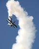 Stearman Model 75 - Dave Dacy - Wingwalker Tony Kazian - Wings over Waukegan - Waukegan, Illinois - Photo Taken: September 6, 2014
