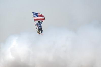 Stearman Model 75 - Dave Dacy - Wingwalker Tony Kazian - Wings over Waukegan - Waukegan, Illinois - Photo Taken: September 8, 2012