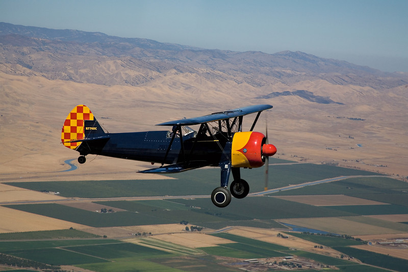 Stearman N7740C over California's San Joaquin valley