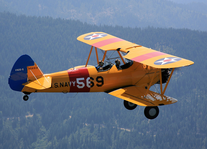 Stearman N56914 over northern California.